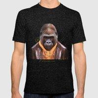 Gorilla Mens Fitted Tee Tri-Black SMALL