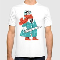 Creepy Scarf Guy Mens Fitted Tee White SMALL
