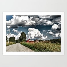 Backroads Art Print