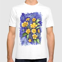 Marsh Marigolds Mens Fitted Tee White SMALL