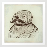 Proper Mr. Otter Art Print