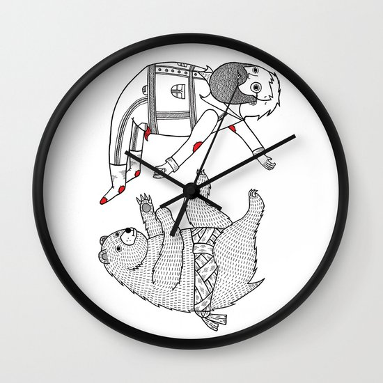 On the bear's uncontrollable urge to toss his master in the air Wall Clock