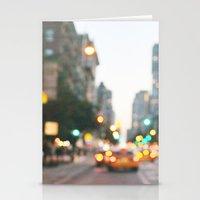 New York City Blur Stationery Cards