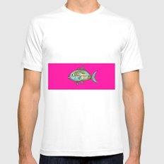 Pescefonico White Mens Fitted Tee SMALL
