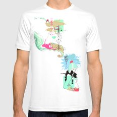 Funky s*!t White Mens Fitted Tee SMALL