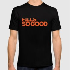 fills so good SMALL Mens Fitted Tee Black