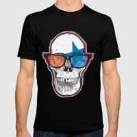 The 3D Star Punk Mens Fitted Tee Black SMALL