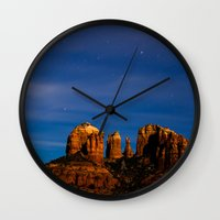 Sedona Past Midnight Wall Clock
