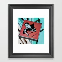Czech Sausage Shop  Framed Art Print