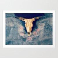 sugar skull Art Prints featuring Sugar & Skull by RDelean