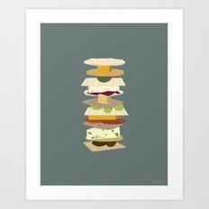 Cheese Stack Art Print