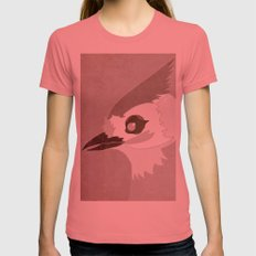 Tufted Titmouse Womens Fitted Tee Pomegranate SMALL