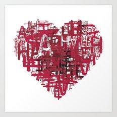 Love to hate. Art Print
