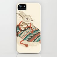 iPhone 5s & iPhone 5 Cases featuring cozy chipmunk by Laura Graves