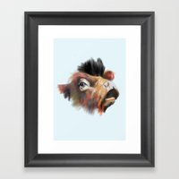 Crazy Cow Framed Art Print