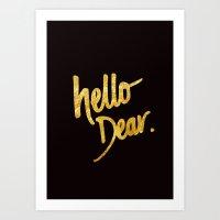 Hello Dear Handwritten T… Art Print