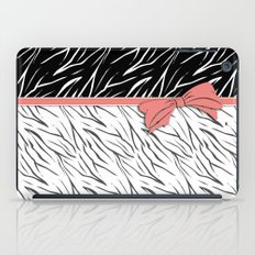 Black and white tiger pattern with pink bow.  iPad Case