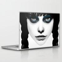 princess Laptop & iPad Skins featuring Wakeful Warrior - In Blue by Ruben Ireland