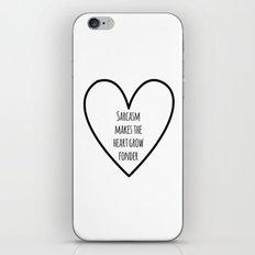 Sarcasm iPhone & iPod Skin