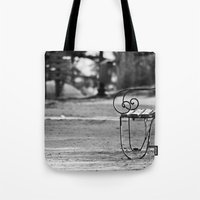 Solitary Park Bench Tote Bag