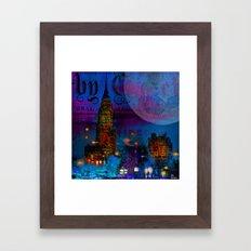 The city which never sleeps Framed Art Print