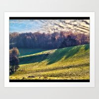 Chromatic Hills Art Print
