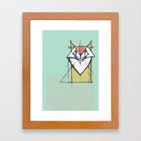 Cubist Cat Study #9 by Friztin Framed Art Print