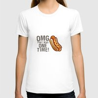 OMG That Was Only One Time - Quote from the movie Mean Girls Womens Fitted Tee White SMALL