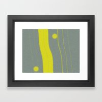 Yellow Bar Framed Art Print