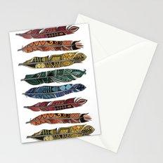 boho rainbow feathers Stationery Cards