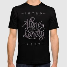 'Alone' Is Not 'Lonely' Black SMALL Mens Fitted Tee