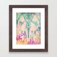 Rorshach Vacation Framed Art Print