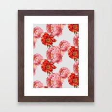 vintage floral Framed Art Print
