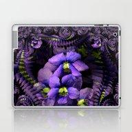 Laptop & iPad Skin featuring Ground Violet Fractal by Bella Mahri-PhotoArt…