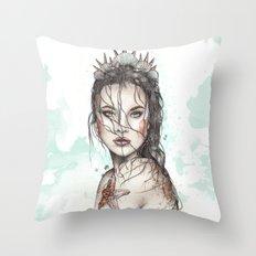 Lost Mermaid Throw Pillow