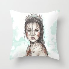Lost Mermaid Throw Pillow
