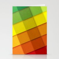 Colourful Squares Stationery Cards