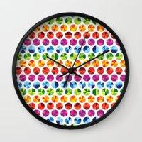 Colour Wheels Wall Clock