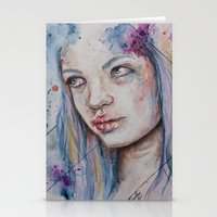 Blue Mermaid  Stationery Cards