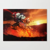 Mecha Series // Akuma Canvas Print