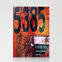 Rusty Numbers Stationery Cards