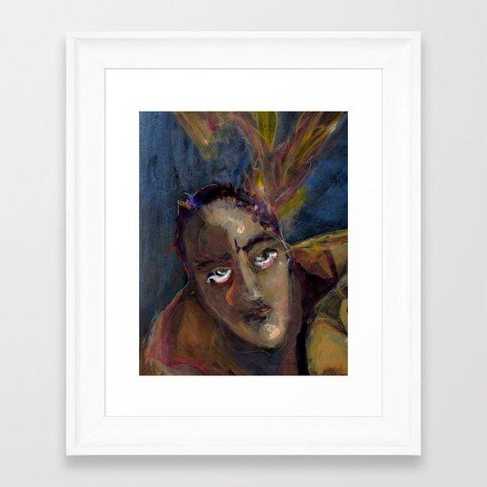 Creative struggle Framed Art Print