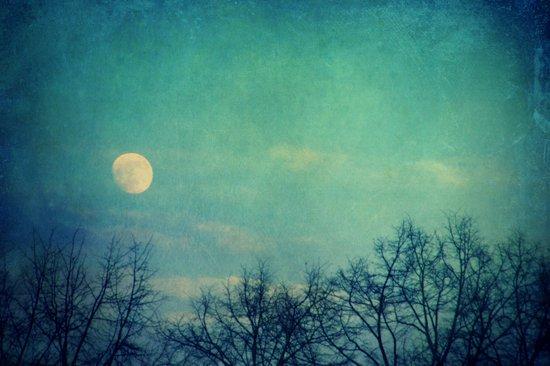 Ice Moon Canvas Print
