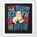 Titular Head Art Print