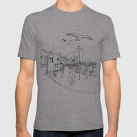 Brixham Mens Fitted Tee Athletic Grey SMALL