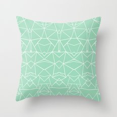 Abstract Mirror Mint Throw Pillow