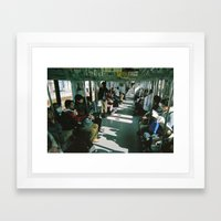 Train daze Framed Art Print