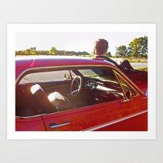 Country Mustang Art Print