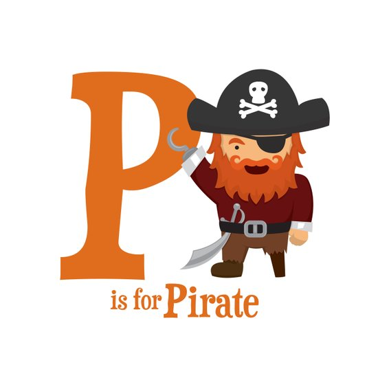 P is for Pirate Art Print