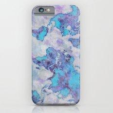 World Map Purple Slim Case iPhone 6s